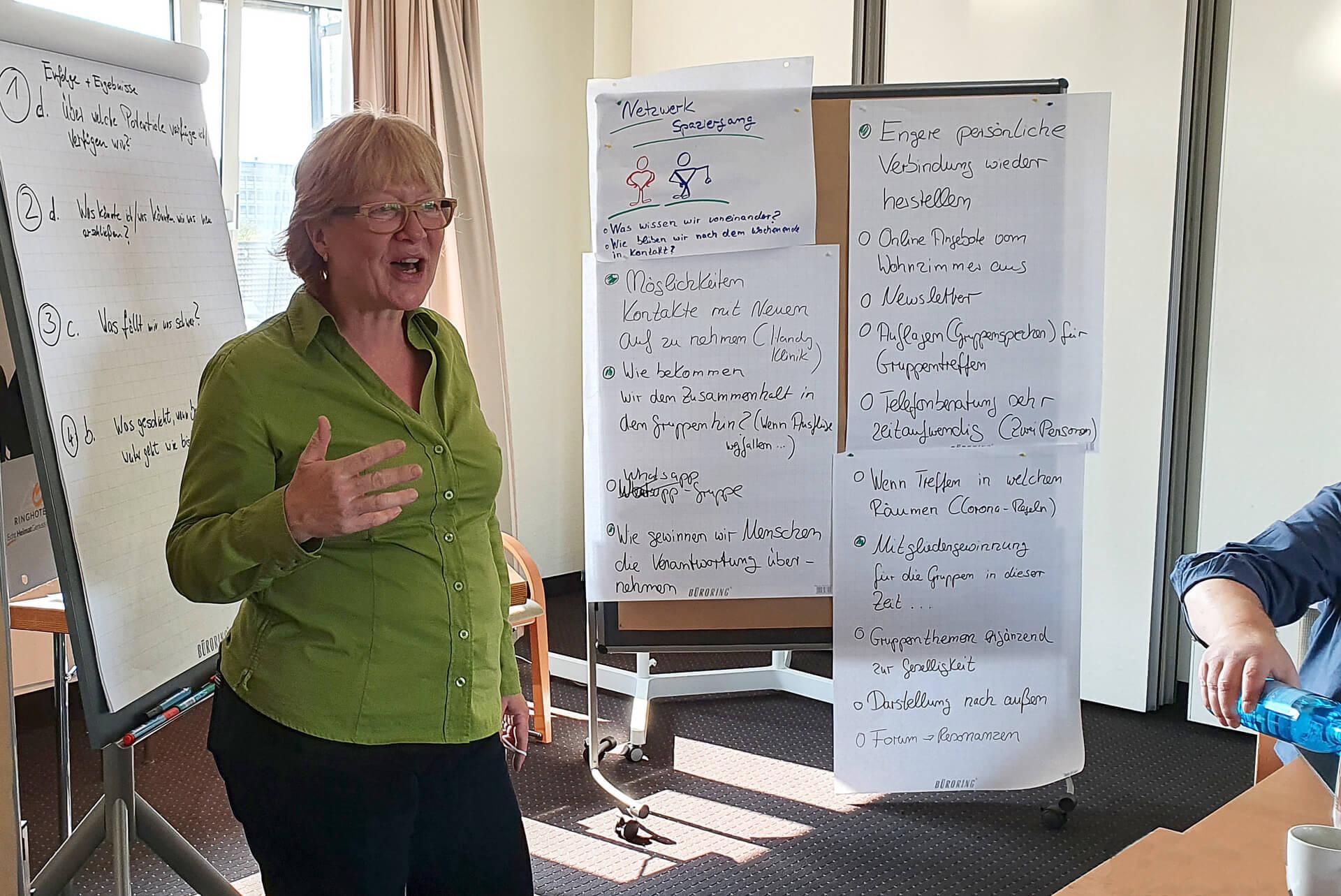 Zusammenarbeit in den Workshops bei Andrea Brüske